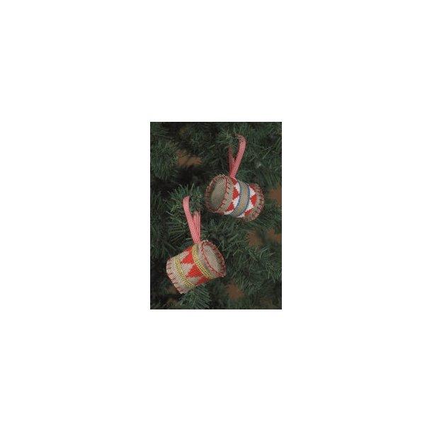 Julepynt trommer sykit - Natur hør