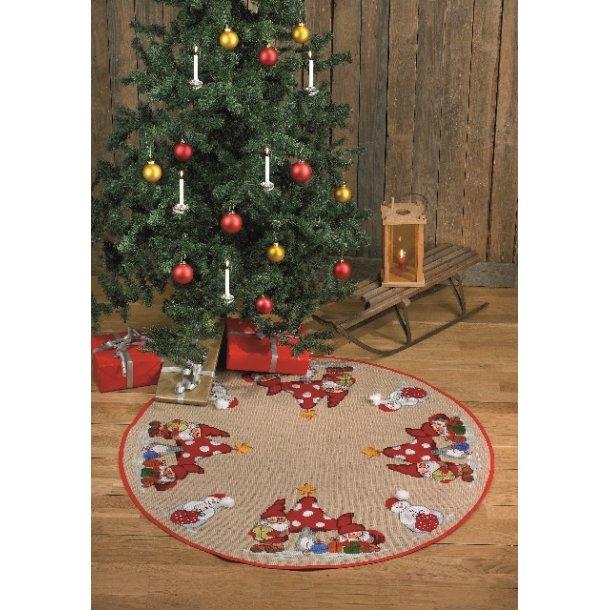juletræstæppe, Nisser og snemænd i jute