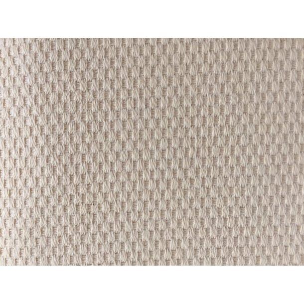 Metervare Domino fra Zweigart 60 cm bred i bomuld i creme/ecru - pris pr. 0,5 mtr.
