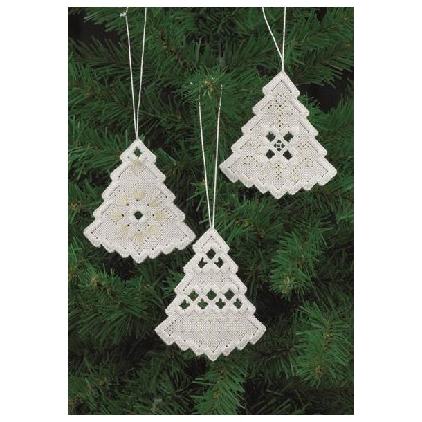 Hardanger Julepynt juletræer  sykit