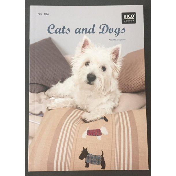 Mønsterbog med motiver RICO 134  - Hund og Kat