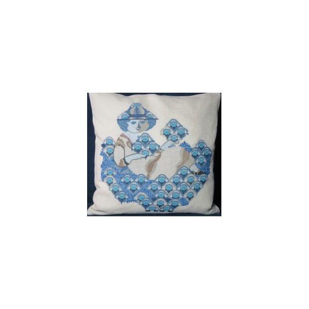 Wiinblad : Blå motiver damer og blomster