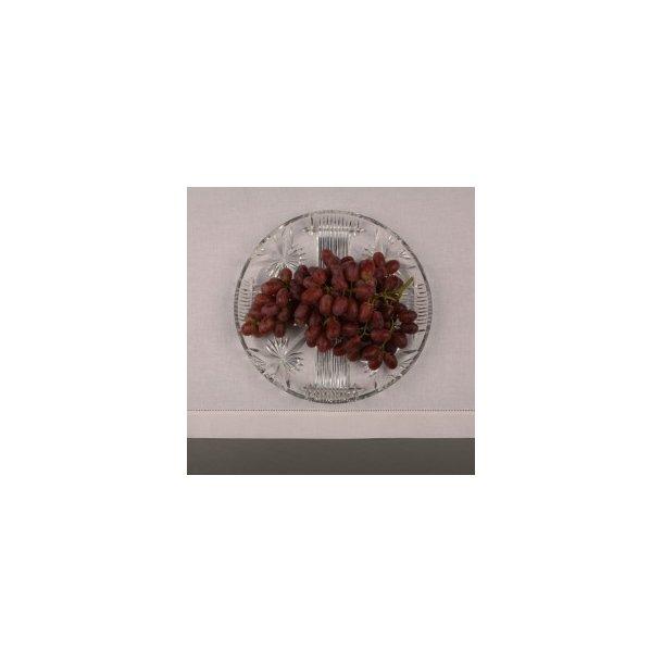 Mellemfin hvid dug (bleget) hør/polyester med og uden hulsøm