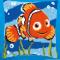 Find Nemo Disney fortrykt Sykit - Stramaj Pude 40x40 cm korsting 2 sting pr. cm