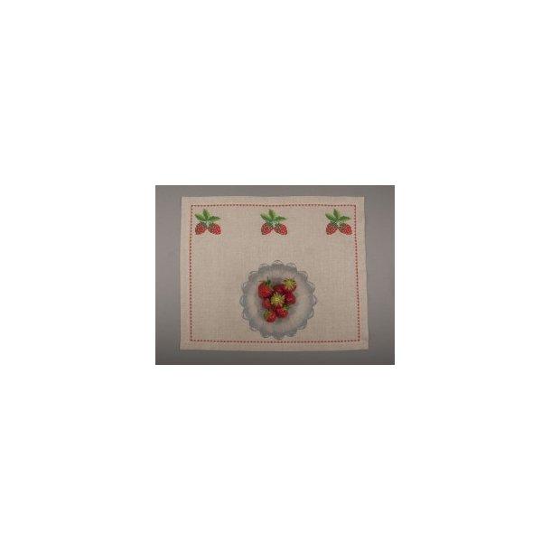 Dækkeservietter i  flere farver og kvaliteter  L45 x H35 cm 10 tråde pr. cm (5 sting pr. cm)