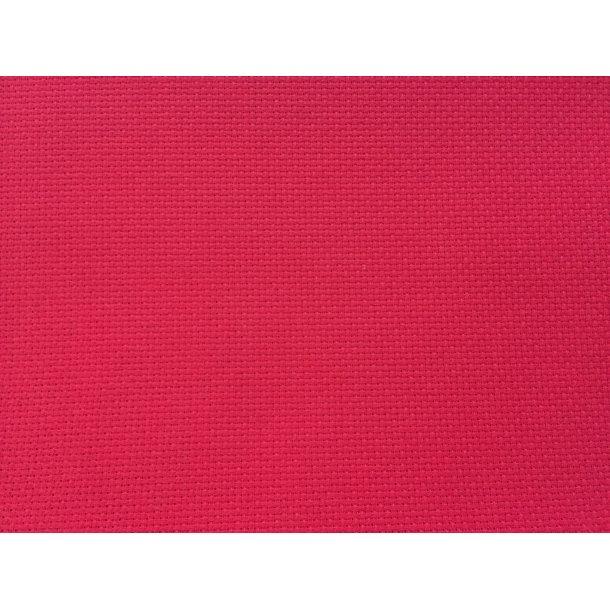 Metervare rød(jul) Aida 150 cm bred i bomuld - finhed 4,4 sting pr.cm /11 count , pris pr. 0,5 mtr.